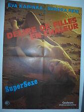 DELIRE DE  FILLES EN CHALEUR affiche cinéma ORIGINALE EROTIQUE SEXY
