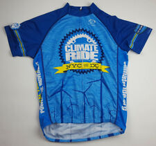 Primal Climate Ride Mens Size Large Blue NYC to DC Cycling Jersey Full Zip 2012