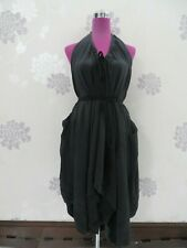 Amazing All Saints Helle Backless Dress Black Size 10 (8-12) VGC