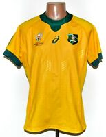 AUSTRALIA WORLD CUP 2019 RUGBY UNION SHIRT JERSEY MAGLIA ASICS SIZE L ADULT