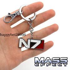 Game MASS EFFECT Keychain Keyring Pendants Cosplay Otaku Gifts Metal Pendant
