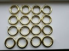 Gold Coloured Curtain Rings x 16