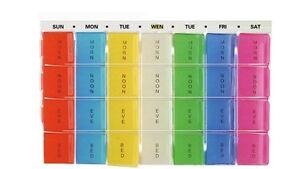 Pill Box Tablet Organiser MEDICINE DISPENSER WEEKLY DAILY 7 DAY LARGE WEEK PILLS
