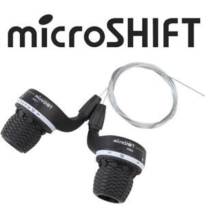 microSHIFT MS25-7 3x7 Grip Shifter Set Fits Shimano SRAM MRX Twist Shift Bike