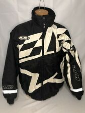 HJC Racing Mens L Snowmobile Jacket Zip Pockets Quilted Snow Winter Gear
