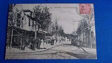 cpa  94 bonneuil tramway train animé bistrots