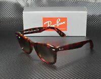 RAY BAN RB2140 1275A5 Wayfarer Red Orange Havana Pink Brn 50mm Unisex Sunglasses
