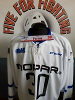WINDSOR SPITFIRES GAME ISSUED WARM-UP JERSEY AND LOCKEROOM NAMEPLATE PATTON