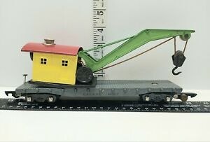 Vintage American Flyer No. 635 Manual Crane Car from 1946 Great Shape