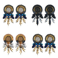 Women Fashion Bohemian Jewelry Crystal Rhinestone Ear Stud Drop Dangle Earrings