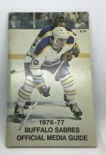 BUFFALO SABRES MEDIA GUIDE YEARBOOK 1976-77 SIGNATURES