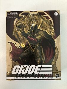 G.I. JOE CLASSIFIED SNAKE SUPREME COBRA COMMANDER #9 GOLD - NEW!!!
