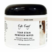 Eye Envy Tear Stain Remover Wipes for Dogs and Puppies - 60 Count Presoaked Pads