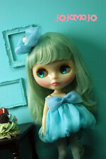 BUBUJOJO Bubble Chiffon dress set for Kenner Blythe doll cloths outfits - Blue