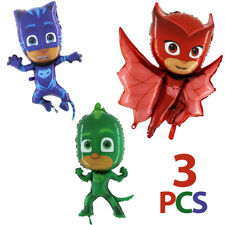 PJ MASKS 37'' Owlette Gekko Catboy foil balloon mylar PACK 3 pcs Supershape