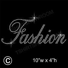 Fashion Rhinestone/Diamante Transfer Hotfix Ironon Motif with a Free Gift