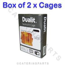 Echt Dualit Box von 2 Sandwich Käfige für neue Architekt & Lite Modell Toaster