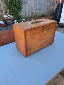 Engineers vintage 7 drawer Oak tool chest lockable removable front nice con