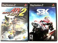 Lot of 2 PS2 Games (Sony PlayStation 2) ATV Off-road Fury 2 & SBK Superbike