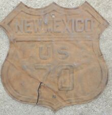 NEW MEXICO, US 70, Vintage Highway Sign, not a repro, 1940s heavy metal material