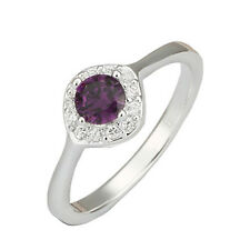Elegant Purple Front Zircon Silver Plated Ring large size 18 mm Q / 8 FR148