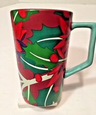 Teavana Starbucks 2016 Tall Floral Abstract Tea Coffee Latte Mug Thick Ceramic