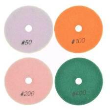"""Brtd412Pc 4 Pc Concrete Polishing Dhex Pad Set 4"""" (50, 100, 200 & 400 Grit) 6mm"""