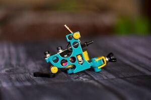 Handmade tattoo machine medium liner 5-14rs, Running 140-145 Hz @ 4.5 V 140gr