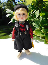 """Beautiful Male Waterland Porcelain 11.5"""" Doll Holland Traditional Costume Doll"""