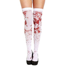 Red Blood Stockings Stay Up Over The Knee Socks Party Halloween Horror Kuso