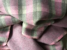 "New Reversible Multi Colour Check Wool Fabric 61"" 156cm   234cm METRE PIECE ONLY"