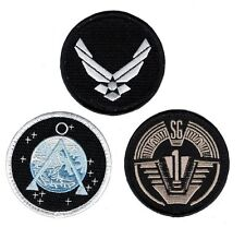 Stargate SG-1 Uniform/Costume Patch Set of 3 pcs 3 inch IRON ON PATCH BY MILTAC