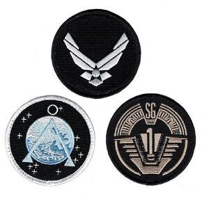 Stargate SG-1 Uniform/Costume Patch Set of 3 pcs 3 inch HOOK PATCH BY MILTACUSA