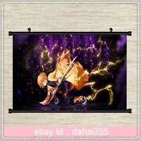 Poster Wall Home Anime Demon Slayer: Kimetsu no Yaiba Decor Scroll 41×56cm #X55