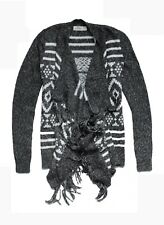NEW HOLLISTER WOMENS FRINGE SLOUCHY FIT BLANKET CARDIGAN OPEN FRONT SWEATER SZ S