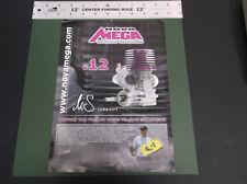 NOVA MEGA .12 R/C CAR ENGINE SX12 SE - SX12 RE - SX12 RE T M5 -BROCHURE *G-COND*