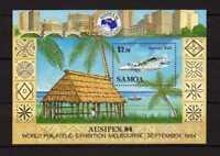 13667) Samoa 1984 MNH S/S Ausipex'84