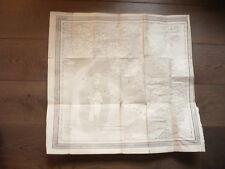 GRANDE CARTE 1829 ROUTIERE DE L'ITALIE AVEC LES POSTES PAR AUDIN