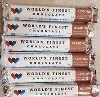 World's Finest Chocolate ALMOND (1.3oz/37g) $1.00 Bar Lot of 25