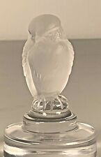 Lalique France Crystal Owl or Bird Figurine 3 in