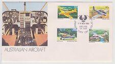 (ICF112) 1981 AU FDC 4set Australian aircraft (E)