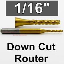 """1/16"""" x.400"""" LOC Down Cut Router - Diamond  Flutes - Titanium Carbide cnc R177"""