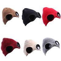 LN_ EG_ Women Novelty Winter Warm Crochet Knitted Hat Cap Beanie With Glasses