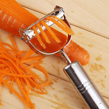 Stainless Steel Vegetable Fruit Peeler Julienne Hand Cutter Slicer Kitchen FT