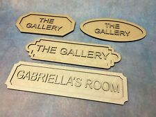 Personalised 3D Door Plaque Room Wall Name Wooden Sign Home Decoration Various