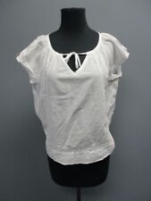 ODD MOLLY White Short Sleeves Scoop Neck Embroidered Blouse NWT Sz 1 EE1183