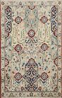 Antique Bird Design Nain Traditional Area Rug Handmade Oriental Wool Carpet 3x4