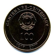 13 MARSEILLE Lions Club, 100 ans, Couleur or, 2017, Monnaie de Paris