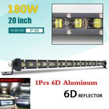 Universal 180W 20inch 6500K 6D Spot Beam Car LED Work Light Single Row Light Bar