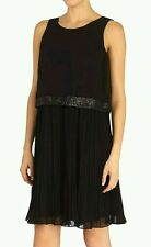 BNWT* COAST * 12(UK) MARSHA BLACK PLEATED DRESS, COCKTAIL,EMBELLISHED,BEAUTIFUL